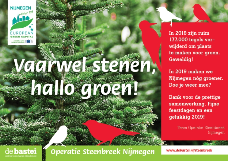 Succesvol campagnejaar Operatie Steenbreek